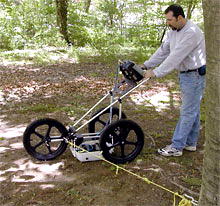 TRU System mounted on cart for root survey